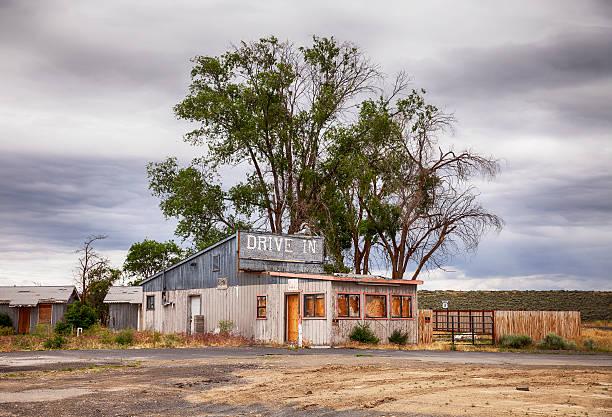 Desolate Drive In Motel stock photo
