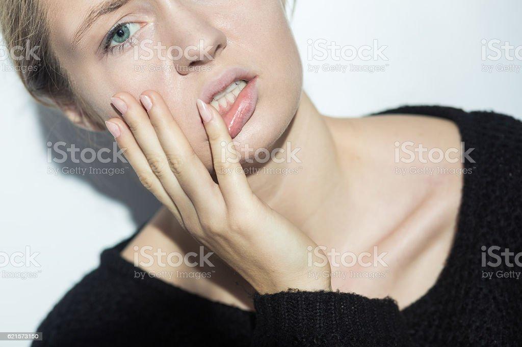 Despair depressed woman photo libre de droits