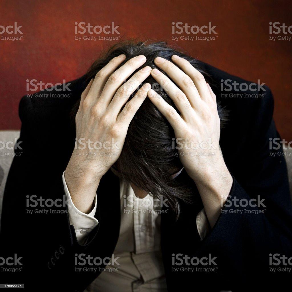 Despair royalty-free stock photo