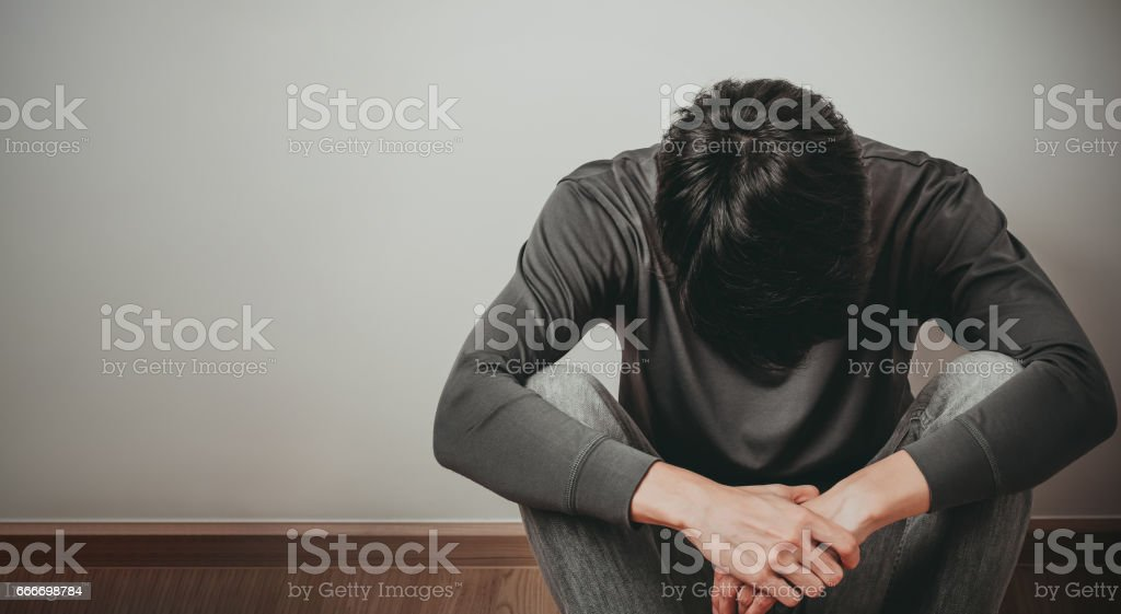 Despaired man stock photo