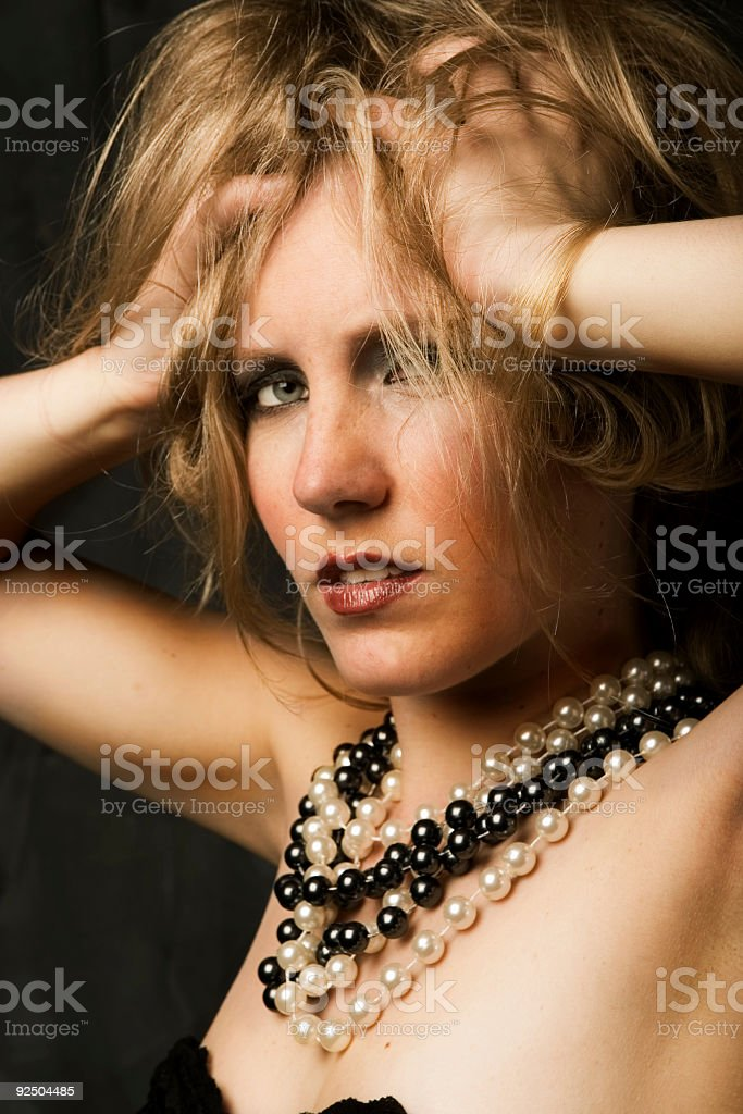 desperate blonde royalty-free stock photo