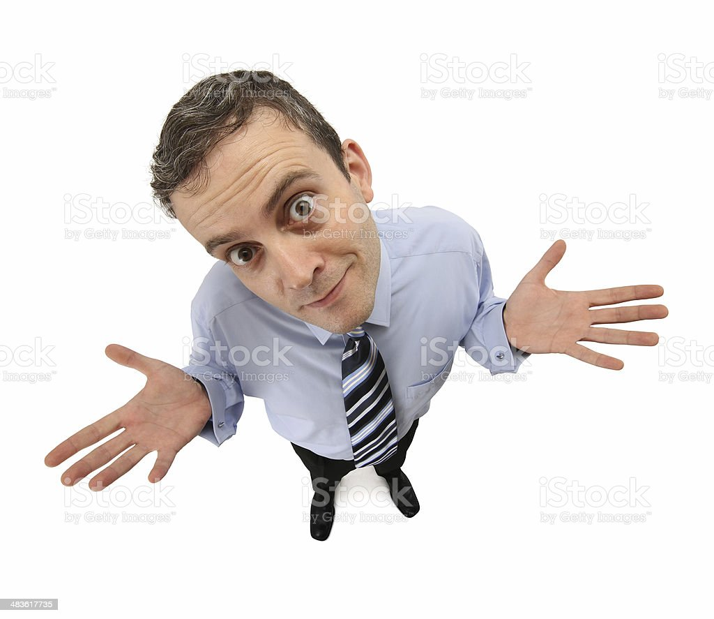 Desperate Businessman royalty-free stock photo