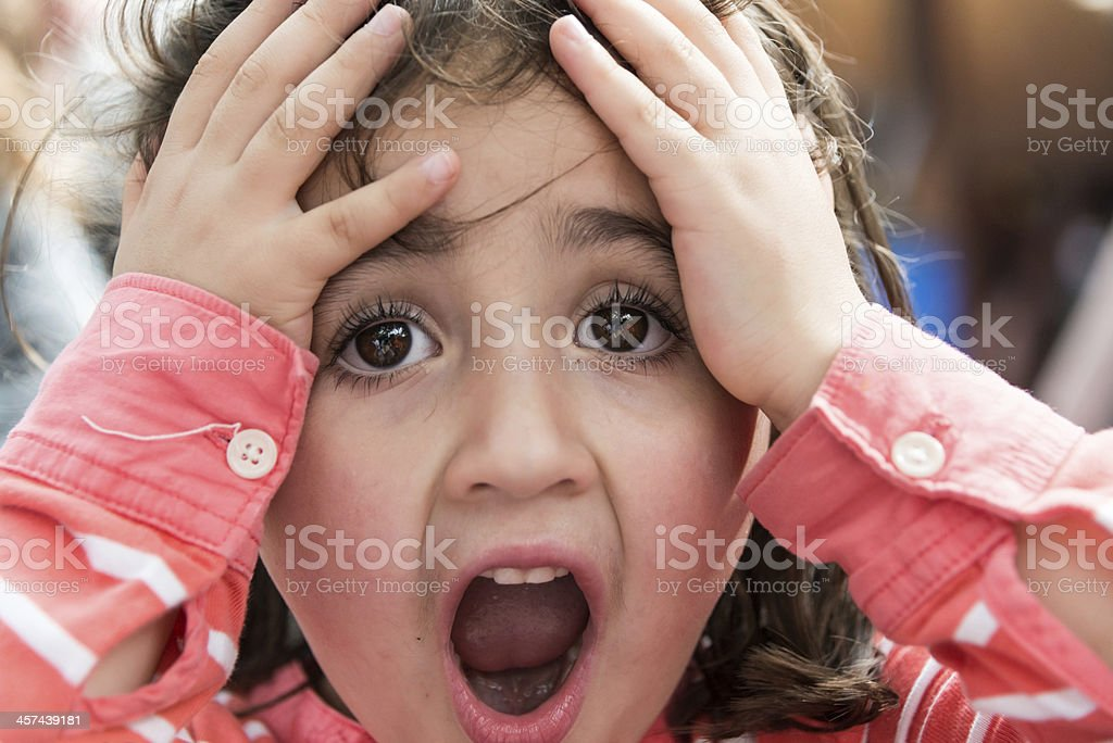 Desperate child royalty-free stock photo