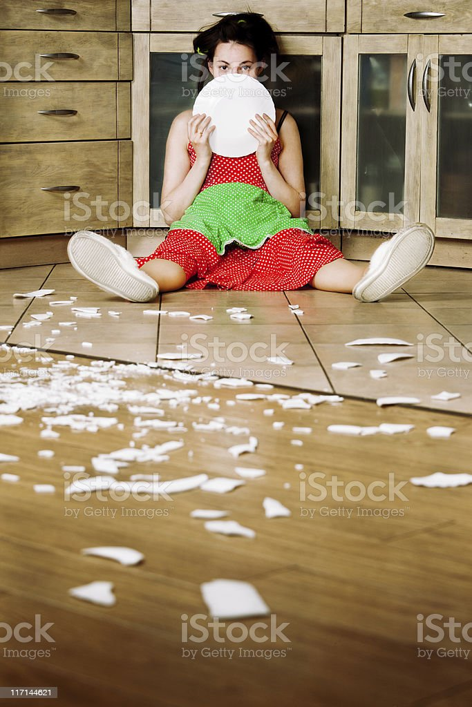 Desperate housewife stock photo