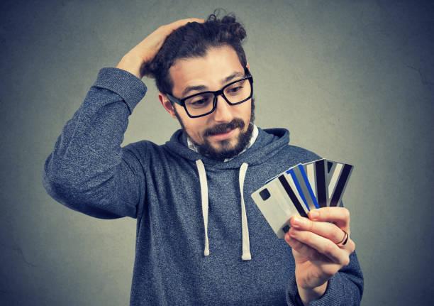 Verzweifelter Mann Kredit-Probleme – Foto