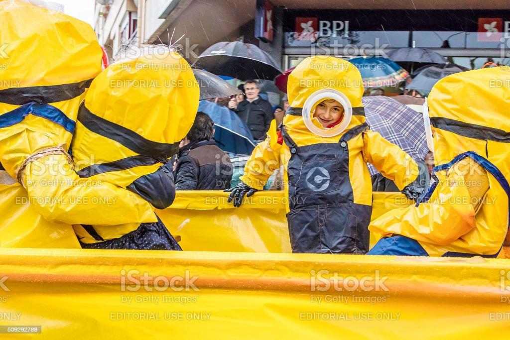 Despicable Me Minions At Carnaval In Prado Portugal Stock Photo