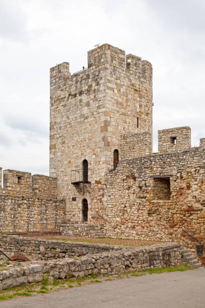 Despot Stefan Tower at the Belgrade Fortress stock photo