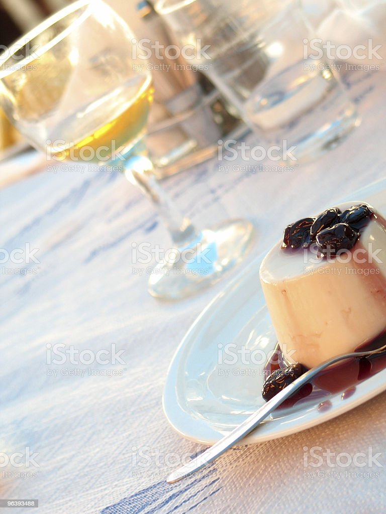 Dessert and a Glass of Drink - Royalty-free Baked Pastry Item Stock Photo