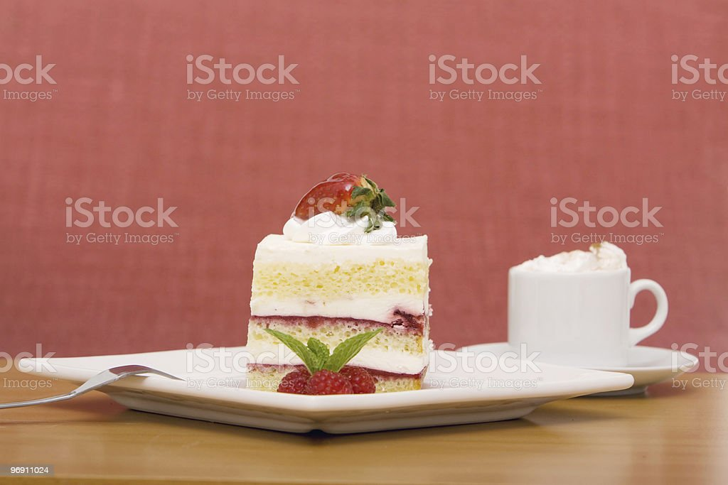 Dessert and coffee royalty-free stock photo