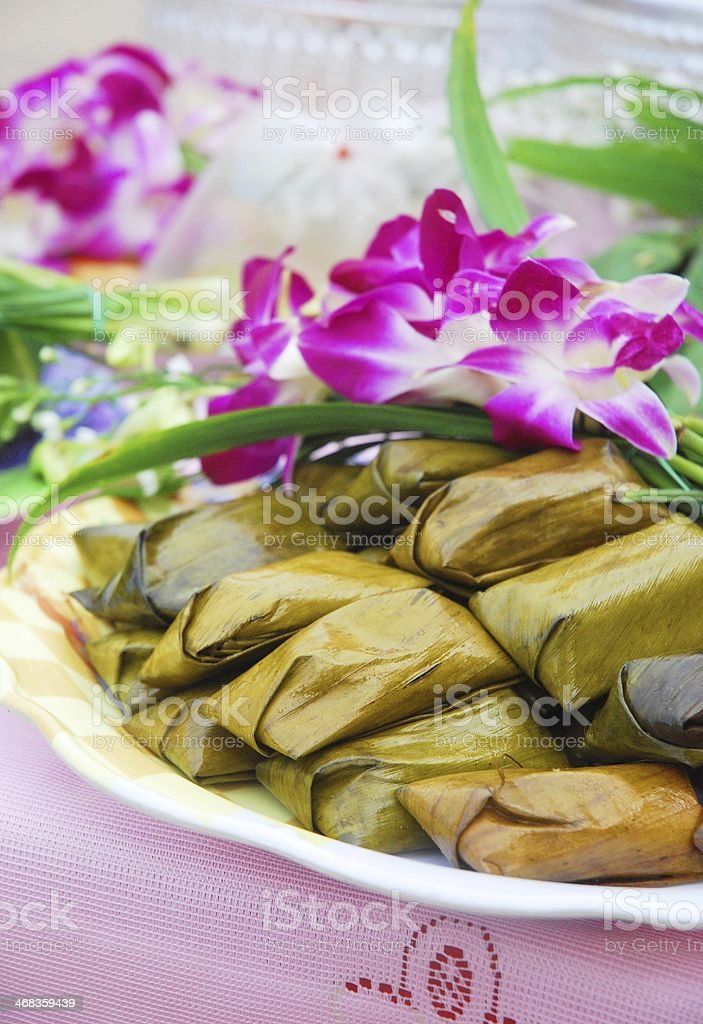 Dessert bowl of Thai definition. (Thai Food) royalty-free stock photo