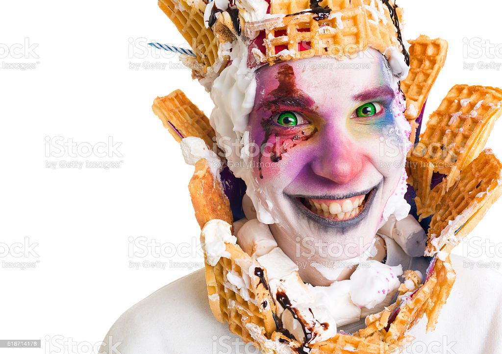 Dessert cake monster stock photo