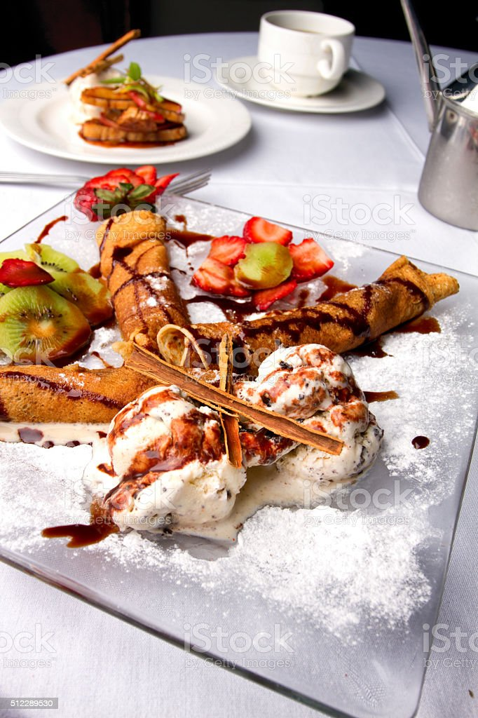 Dessert Cannoli stock photo