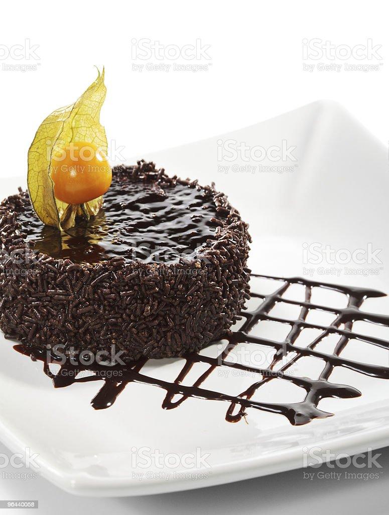 Dessert - Chocolate Iced Cake - Royalty-free Amerikaanse biscuit Stockfoto
