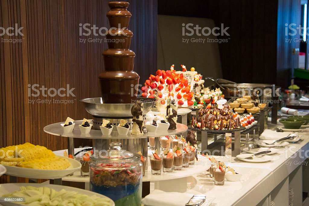 Dessert Corner At A Buffet Restaurant Stock Photo More Pictures Of