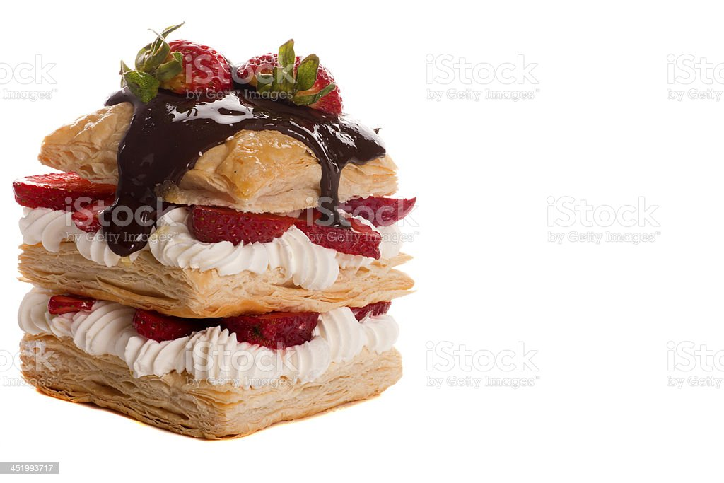 dessert food on white background royalty-free stock photo