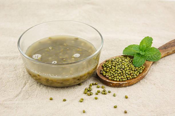 Dessert from mung bean stock photo