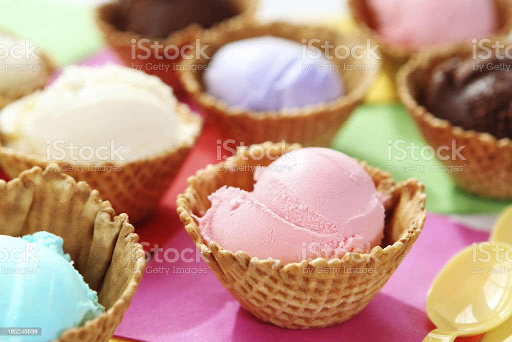 dessert - ice cream stock photo