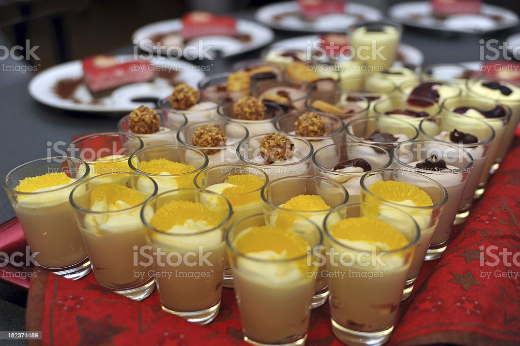 dessert in christmas time royalty-free stock photo