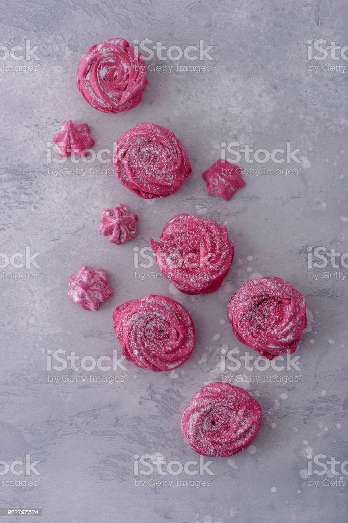 Dessert meringues cookies stock photo