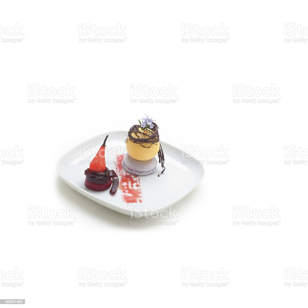 Dessert al piatto royalty-free stock photo