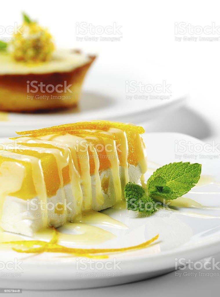 Dessert - Orange Cheesecake royalty-free stock photo