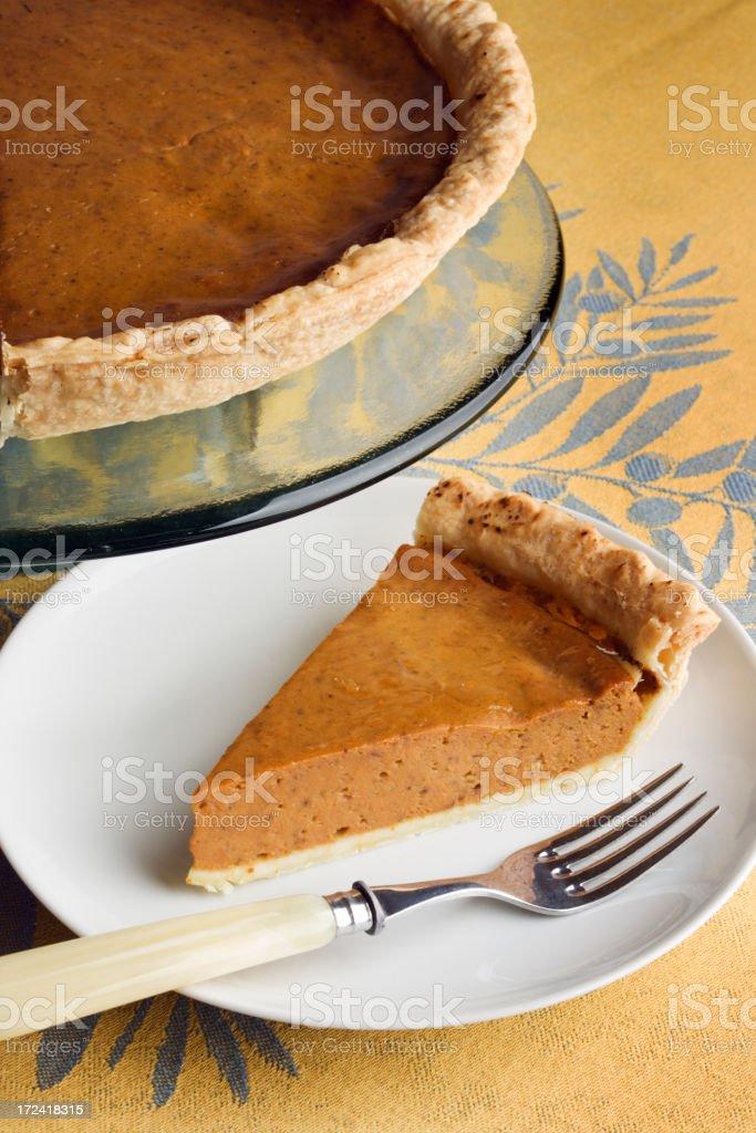 Dessert Pumpkin Pie Vt royalty-free stock photo