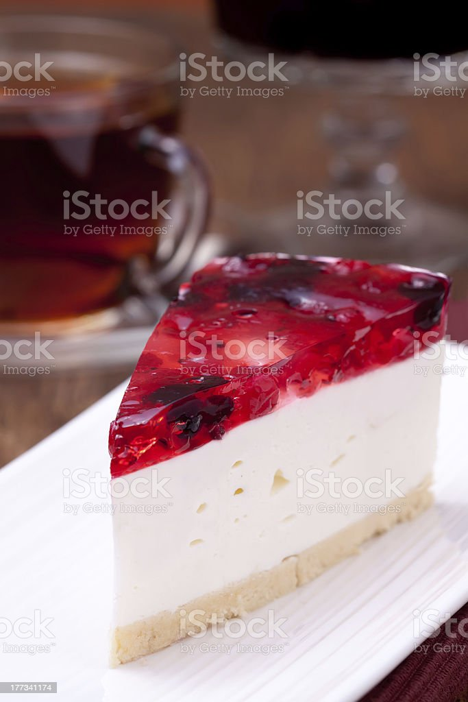 Dessert served on a plate royalty-free stock photo
