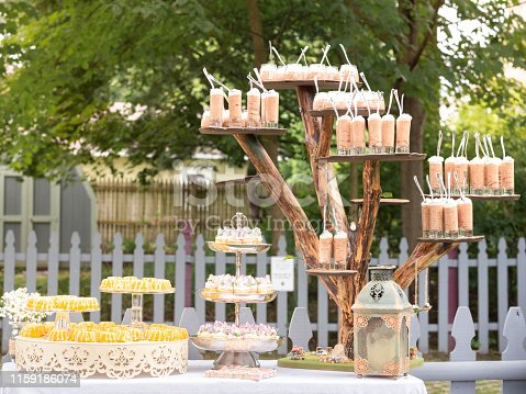 Dessert Station at Backyard Outdoor Party
