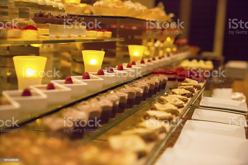 Dessert Table at a large formal party royalty-free stock photo
