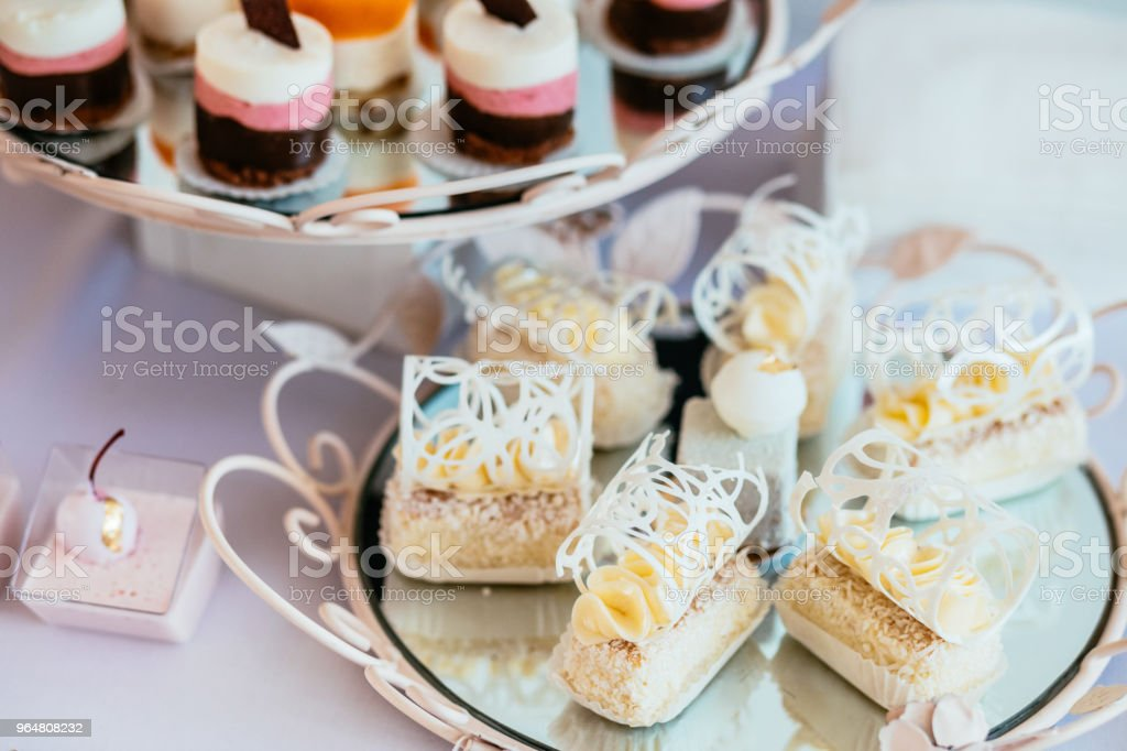 Dessert table for a party. royalty-free stock photo