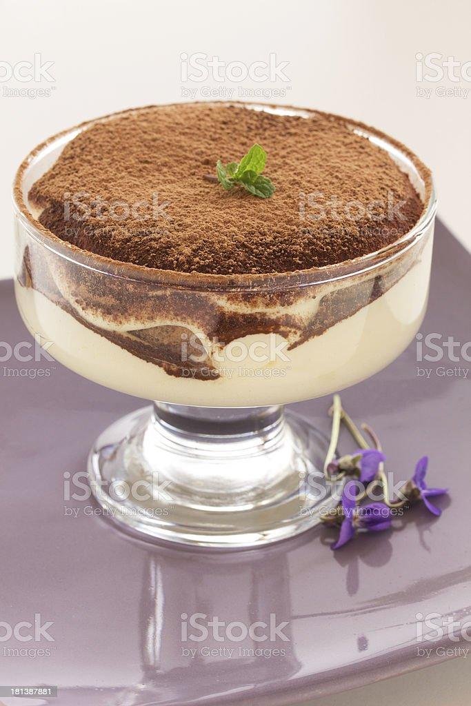 Dessert tiramisu with amaretto. royalty-free stock photo
