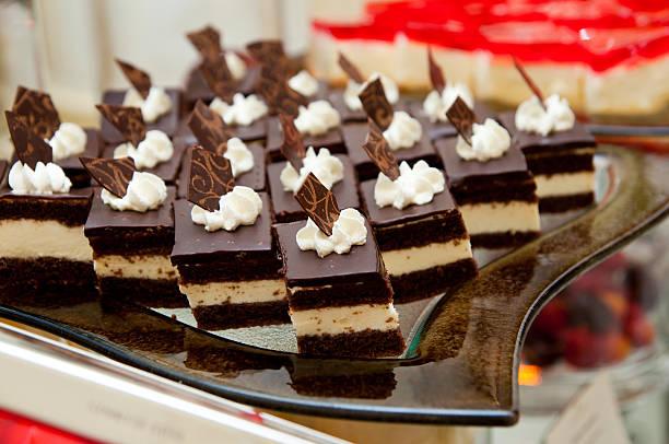 Dessert with cream - catering stock photo
