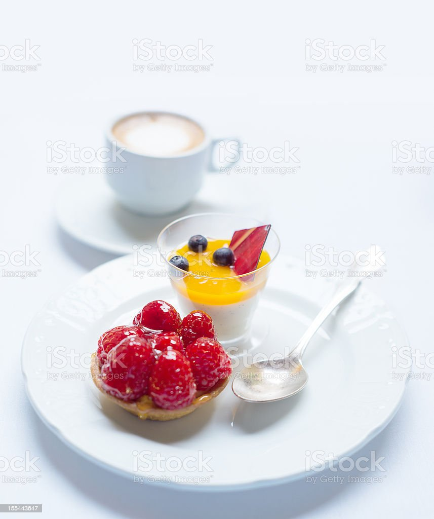 desserts and coffee royalty-free stock photo