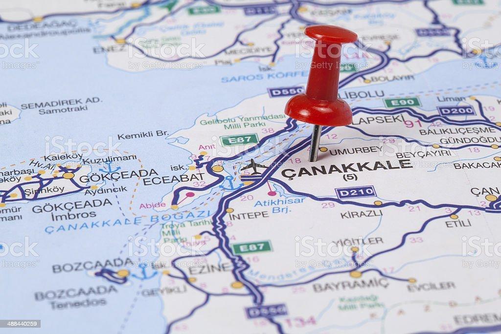 Destination Çanakkale, Turkey royalty-free stock photo
