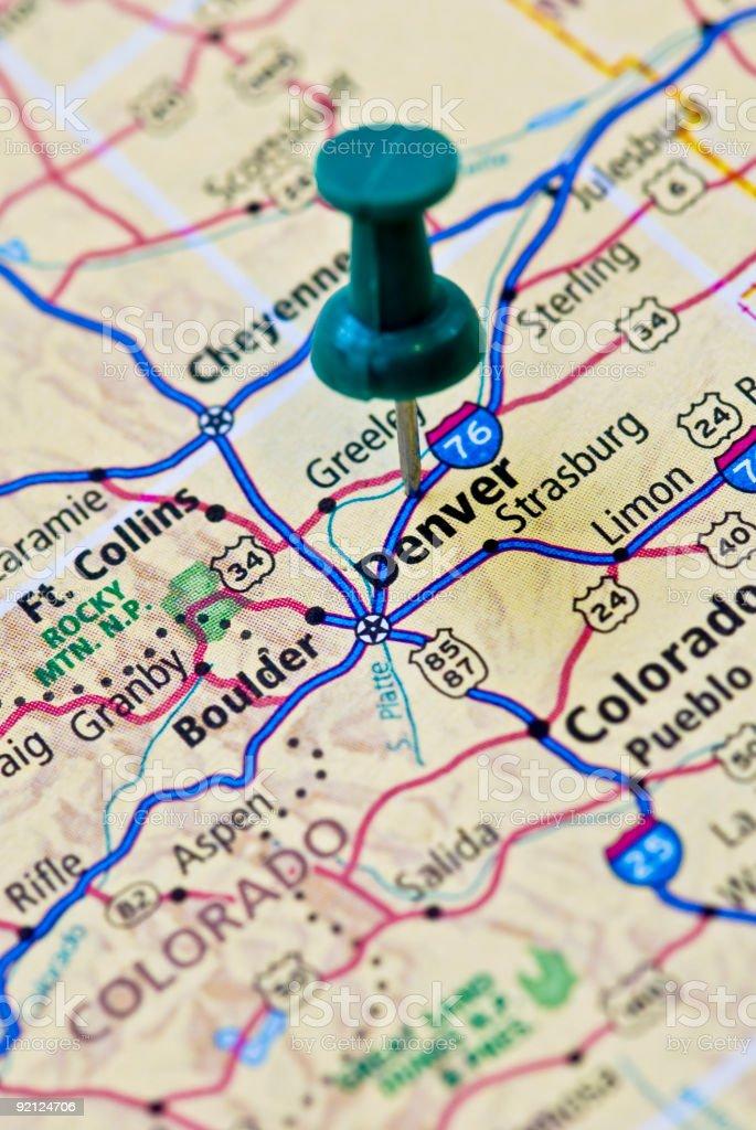 Destination: Denver stock photo