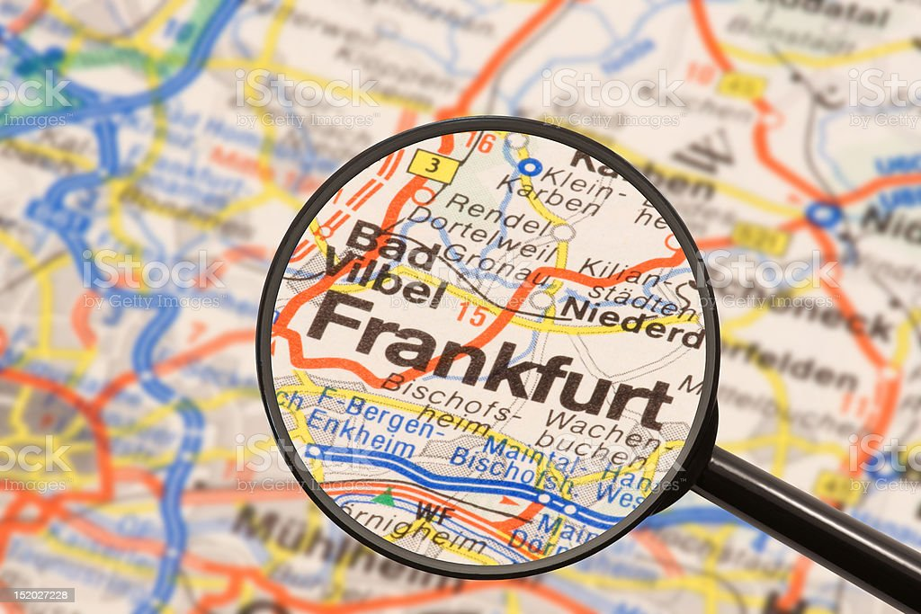 Destination - Frankfurt royalty-free stock photo