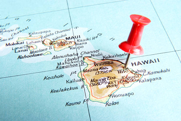Destination Hawaii stock photo