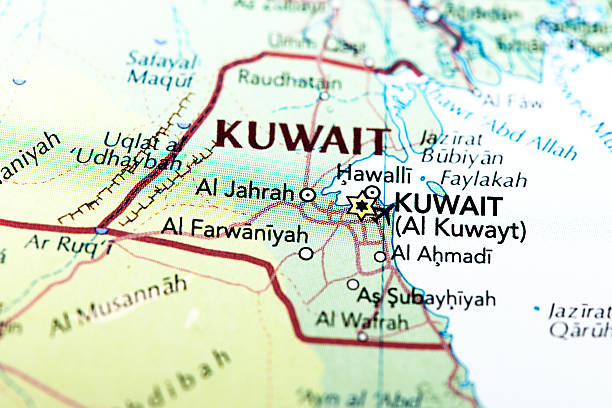 Best Kuwait Map Stock Photos, Pictures & Royalty-Free Images ...