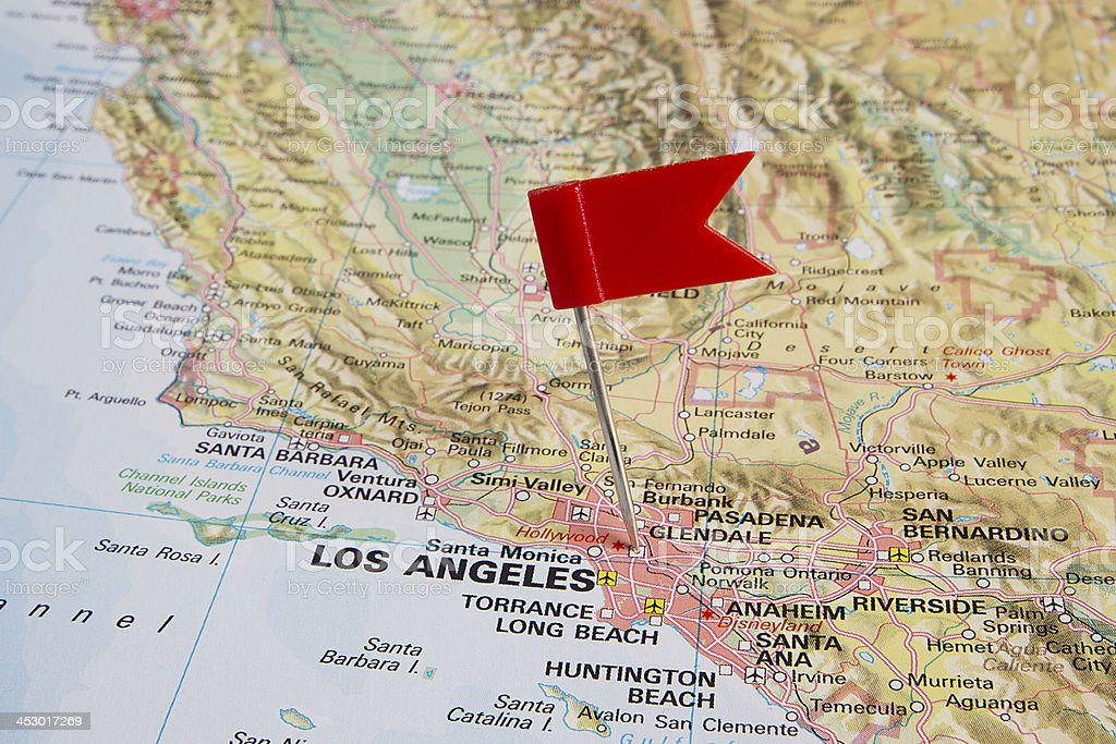 Destination: Los Angeles stock photo