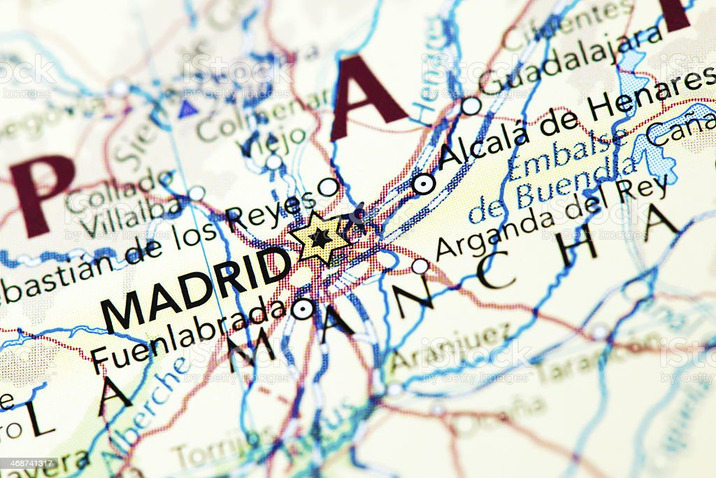 Destination Madrid Spain royalty-free stock photo