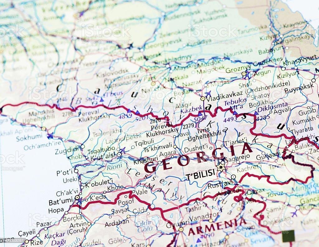 Map Of Republic Of Georgia.Destination Republic Of Georgia Stock Photo Download Image Now