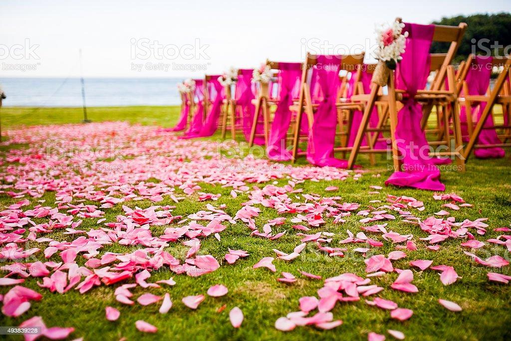 Destination Wedding Ceremony Stock Photo