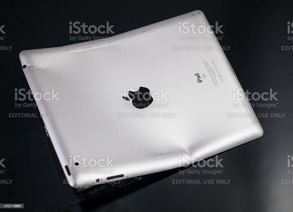 Destroied Apple Ipad stock photo