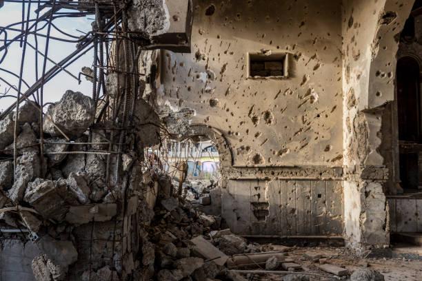 Zerstörten armenischen Kirche in Mosul, Irak – Foto