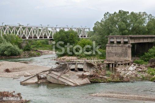 istock destroyed bridge 452395315