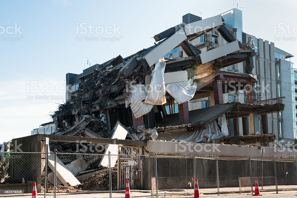 Destroyed building stock photo