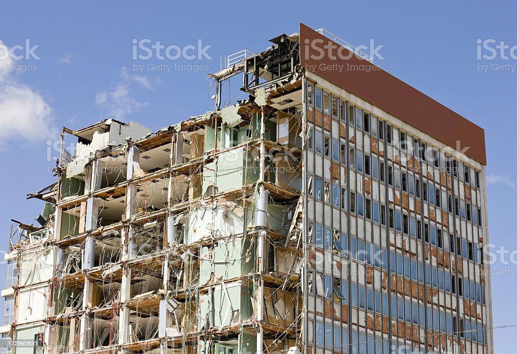 Zerstörten Gebäude. Serie