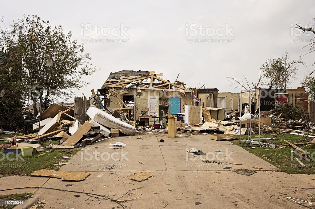 Destroyed by Tornado royalty-free stock photo