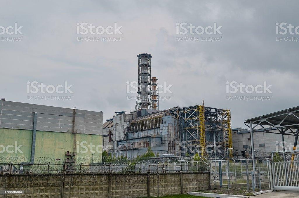 Destroyed Chernobyl Reactor 4 stock photo