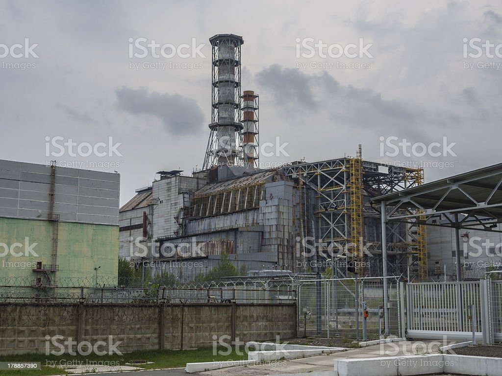 Destroyed Chernobyl Reactor 4 stock photo